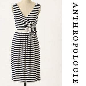 Anthropologie Little Yellow Button Perilla Dress M